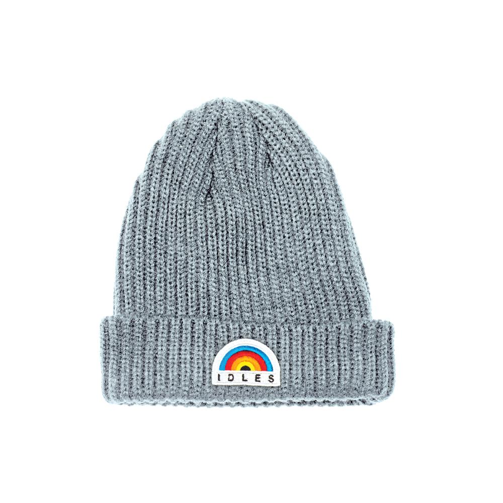 9888f58220953 Rainbow Grey Trawler Beanie - IDLES