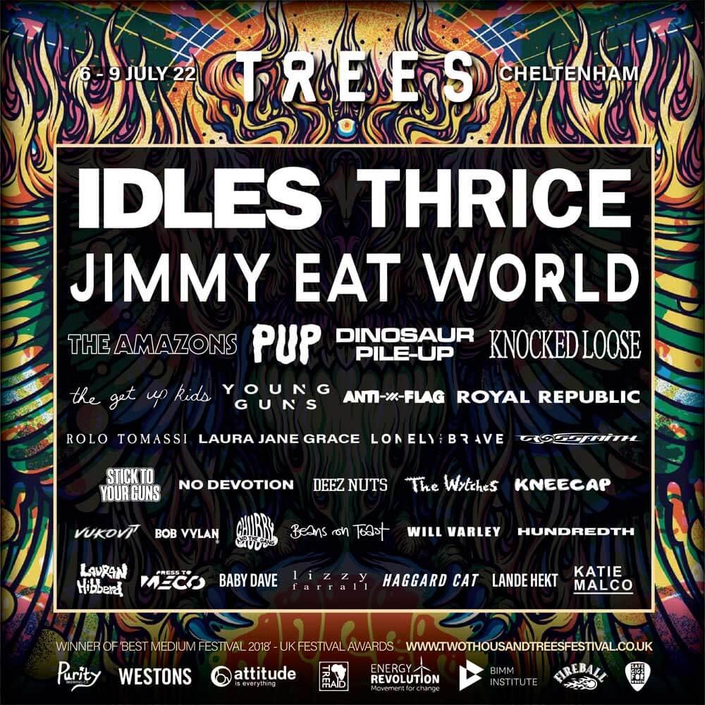 2000 Trees Festival tour poster